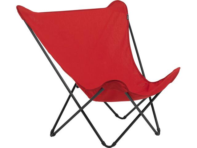 Lafuma Mobilier Pop Up XL Krzesło składane Airlon + Uni, czerwony/czarny